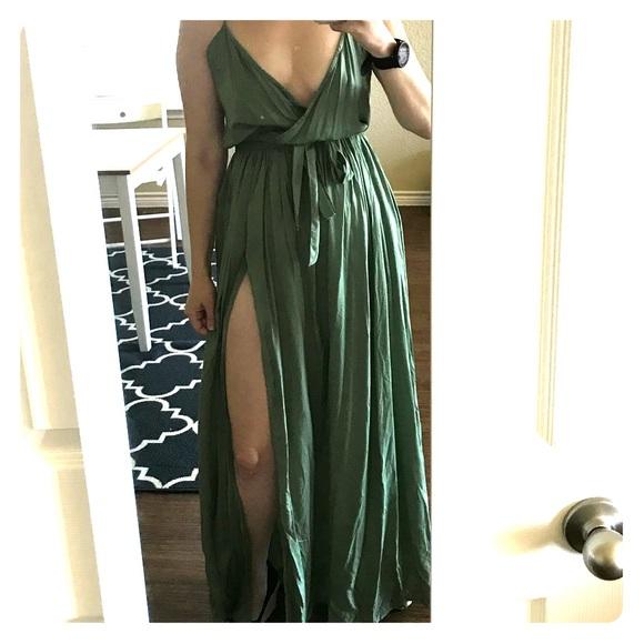 96ddc98a4c ASOS Dresses | Size 8 Woven Wrap Maxi Beach Dress Green | Poshmark